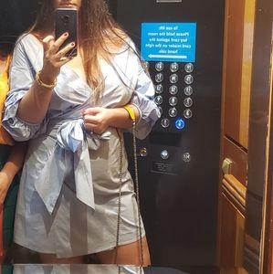 Lovers + Friends bubble sleeves wrap dress